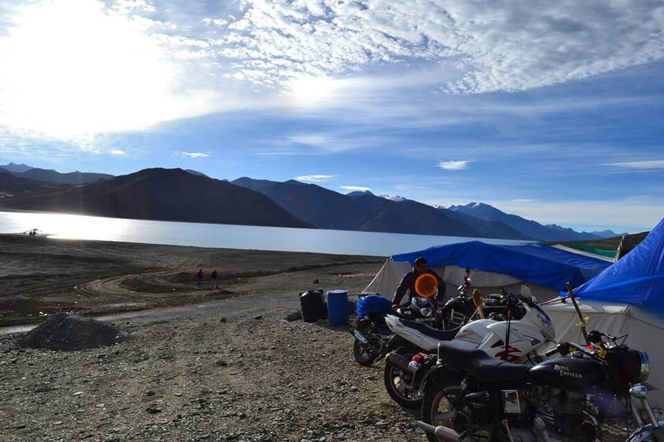 Morning view at Pangong Camp
