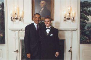 Caleb Laieski With Obama