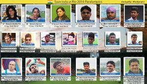 Paralympics Indian Team