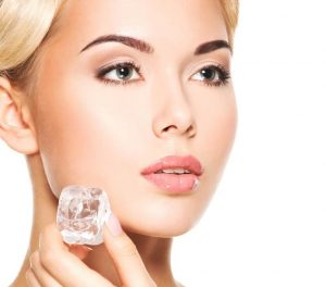 glowing skin with icecube