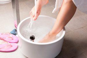 Wash feet with Warm Water
