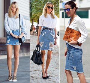 A Button-Front Skirt