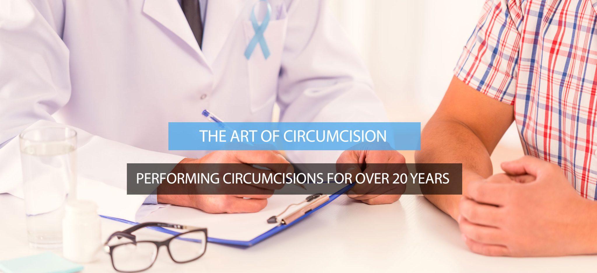 Adult circumcision surgery