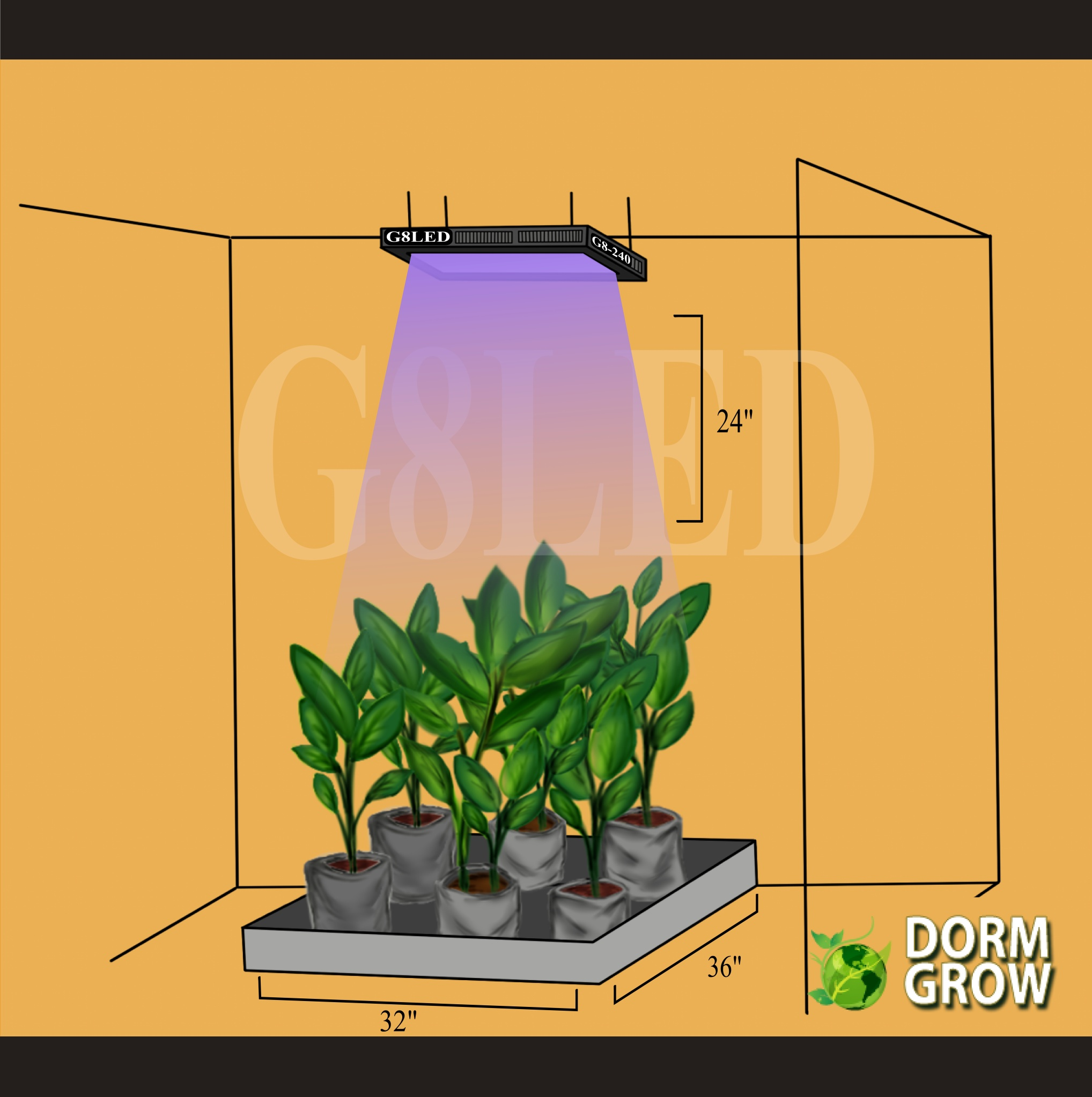 Drow Growing LED