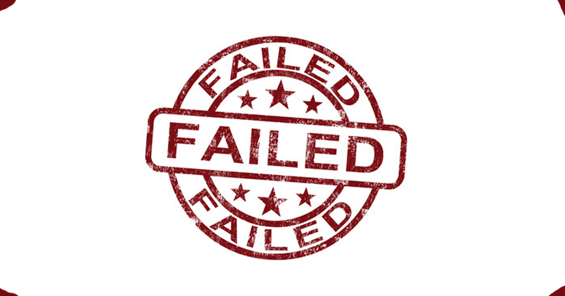 Failed Stamp Showing Reject Or Failure - Stanislav Komsky
