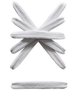 elastic white shoe laces