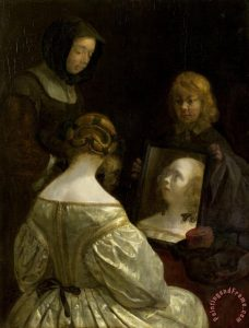 gerard ter borch - woman at mirror