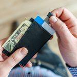 leather cardholder wallets