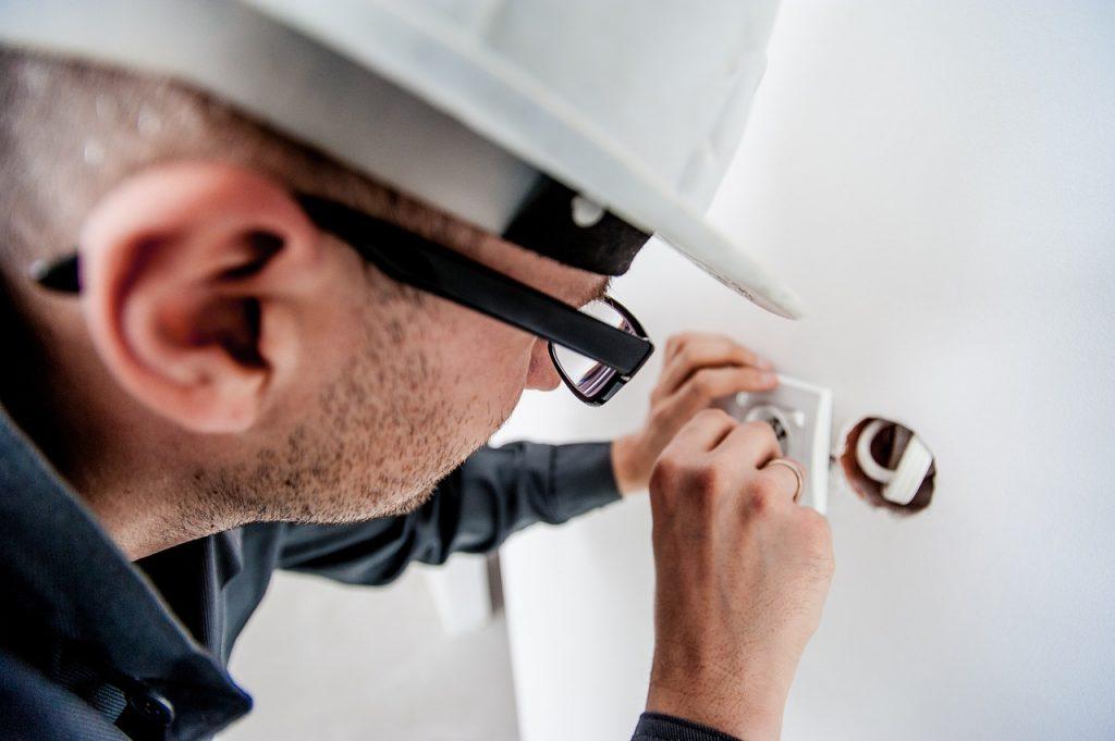 electrician fixing electrics