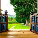 outdoor backyard oasis