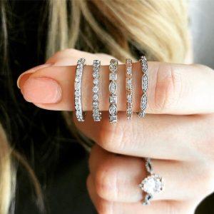 Diamond Eternity bands for Women