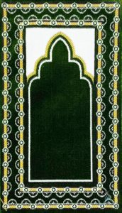 This royal blue Muslim prayer mats is a beautiful addition to our collection!