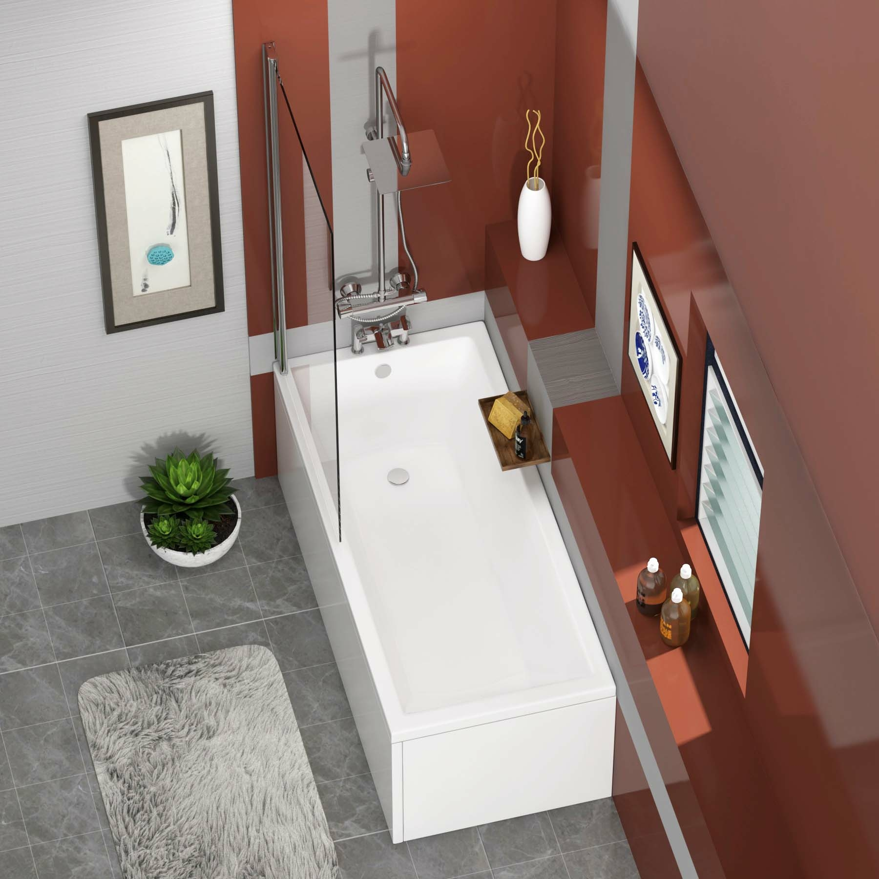 Double Ended Shower Bath